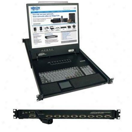 "Tripp Lite 8port Netcontroller Vga Kvm Console W/19"" Monitor 804000819"