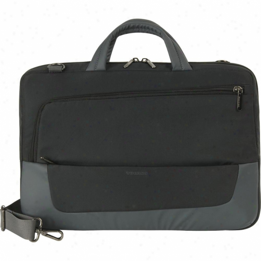 Tucano H13 Multitasking Horizontal Bag - Black And Gray