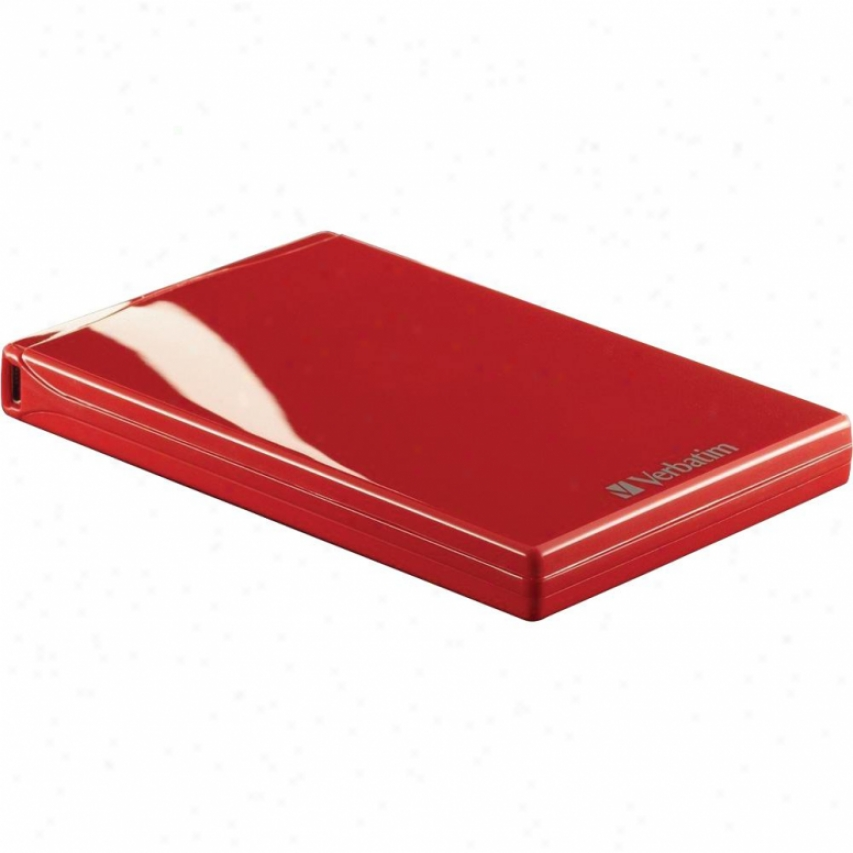 Verbatim 750gb Acclaim Usb Portable Laboriously Drive - Red 97383