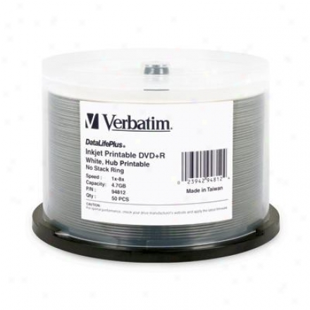 Verbatim 8x Dvd+r 4.7gb White Printable