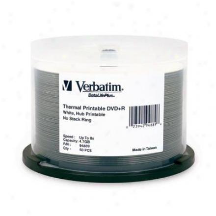 Verbatim 8x Dvd+r 4.7gb White Thermal