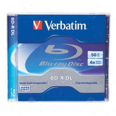 Verbatim Bd-r Dl 50gb 6x Branded 1pk