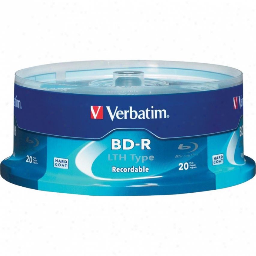 Verbatim Bd-r Lth Type 25gb 6x 20 Pk Sp