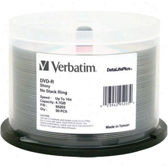 Verbatim Dvd-r Datalifeplus Recordable Dvd 50 Compress 95203