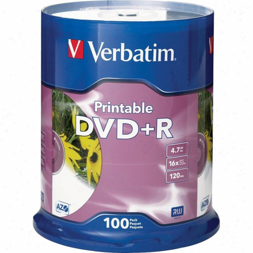Verbatim Dvd+r 16x White Inkjet Prntab