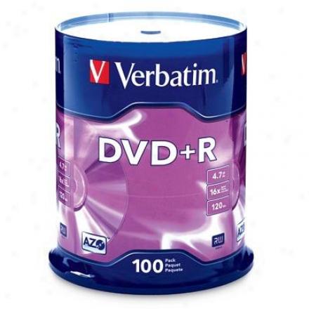 Verbatim Dvd+r 4.7vb 16x 100 Pack