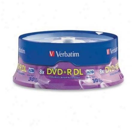 Verbatim Dvd+r Dl 8.5gb 8x Branded 30 P