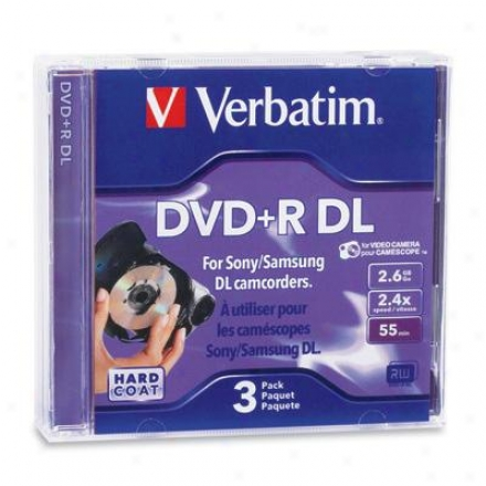 Veratim Mini Dvd+r Dl 2.6g 3pk
