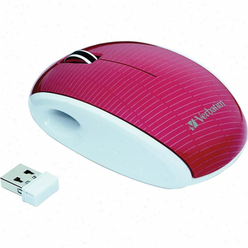 Verbatim Nao Mouse - Mercury Ruby/whit