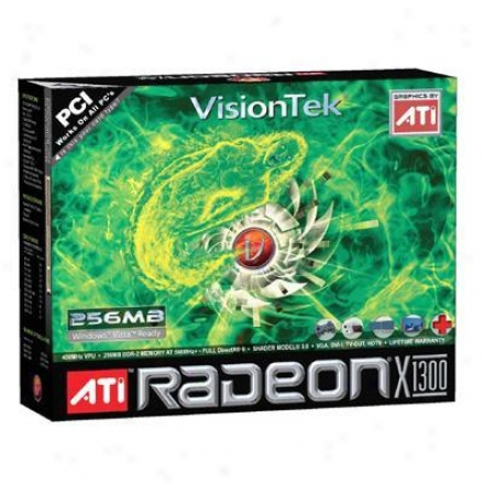 Visiontek 900106 Radeon X1300 256mb Gddr3 Pci Lp Video Card