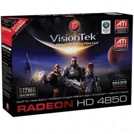 Visiontek 900241 Radeon Hd4850 512mb Gddr3 Pcie Video Card