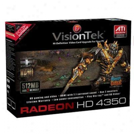 Visiontek Radeon Hd 4350 512mb Ddr2 Pci Express 2.0 Video Card