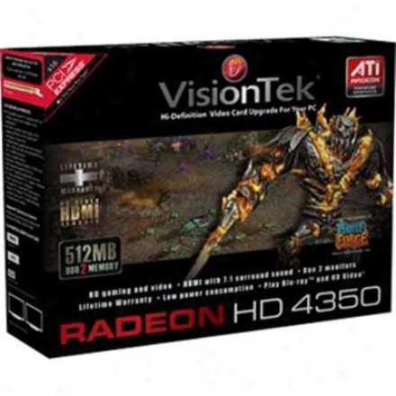 Visiontek Radeon Hd 4350 5112mb Ddr2 Pci Express X1 Video Card