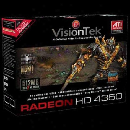 Visiontek Radeon Hd 4350 512mb Ddr3 Pci Express 2.0 Video Card