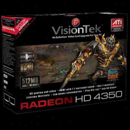 Visiontek Radeon Hd 4350 512mb Pci Express 2.0 X16 Video Card