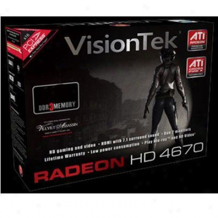 Visiontek Radeon Hd4670 Pcie 2gb Ddr3 Video Card