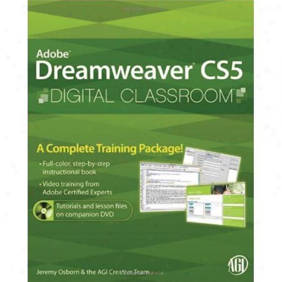 Wiley Dreamweaver Cs5 Digital Classroom By Jeremy Osborn 0470607749