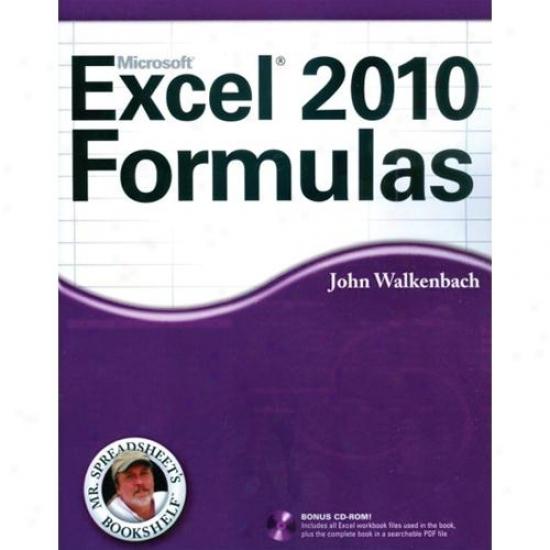 Wiley Microsoft Excel 2010 Formulas Book By John Walkenbach 0470475362