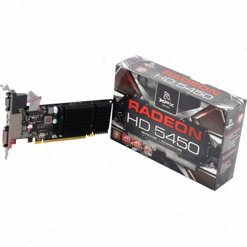Xfx Radeon Hd 5450 512mb Ddr3 Pci Express 2.1 Video Card