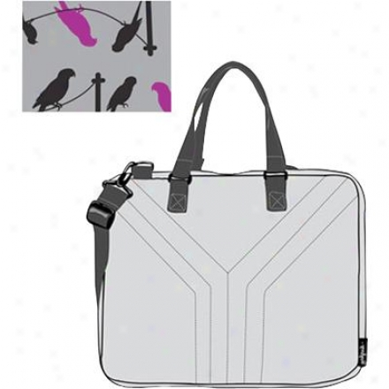 "Yak Pak Kiku Laptop Bag - "" Grey Birds "" Design"