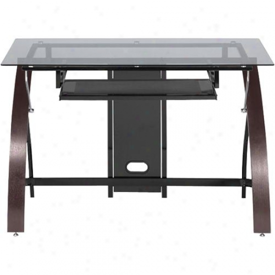 Z-line Designs Zl81101du Claremont Desk With Monitor Shelf