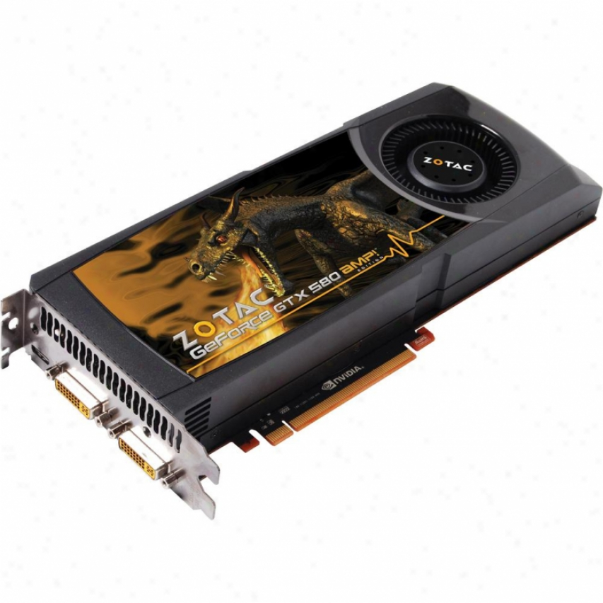 Zotac Amp! Geforce Gtx 580 1.5gb Gddr5 Pcie 2.0 X16 Video Card - Zt-50106-10p