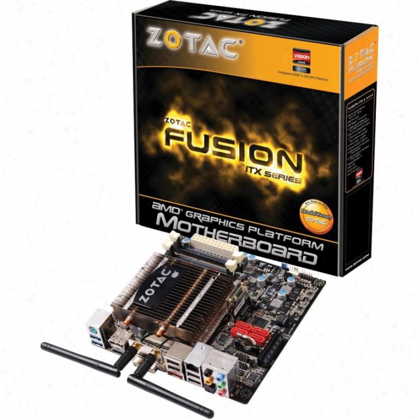 Zotac Fusion350-a-e Amd E-350 Apu Amd Hudson M1 Mini Itx Motherboaard