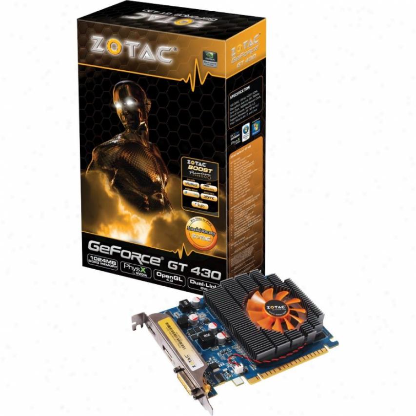 Zotac Geforce Gt 430 1gb Ddr3 Pvi Express 2.0 Video Card