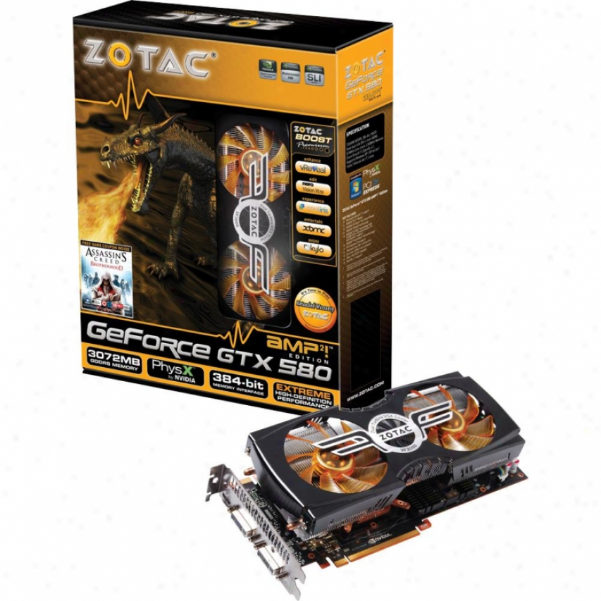 Ztoac Geforce Gtx580 3072mb Ddr5amp2