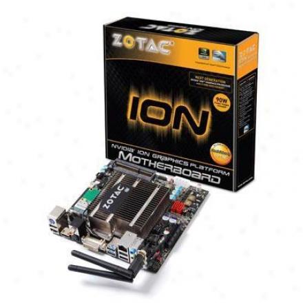 Zotac Ionitx-t-u Intel Atom D525 Intel Nm10 Mini Itx Mootherboard