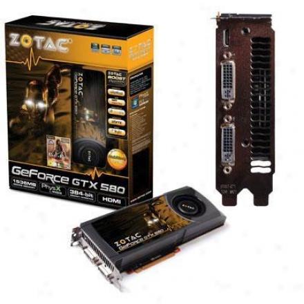 Zotac Zt-50101-10p Geforce Gtx 580 1.5gb Gddr5 Pci Express 2.0 X16 Vide oCard
