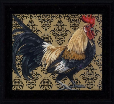 'bantam Single Comb Dutch' Rooster Print