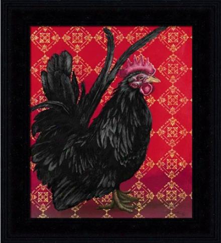 'bantam Single Comb Japanese' Rooster Pfint