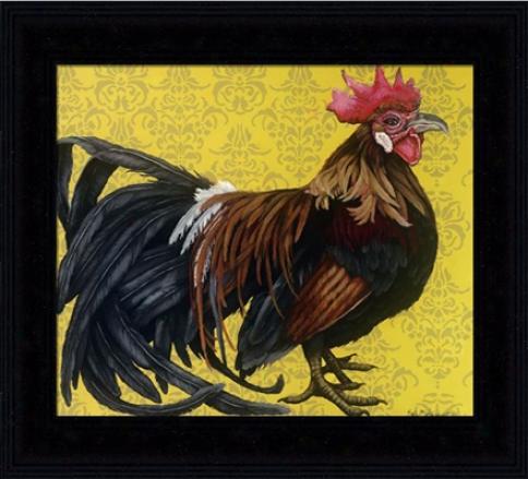 'bantam Single Comb Phoenix' Rooster Print