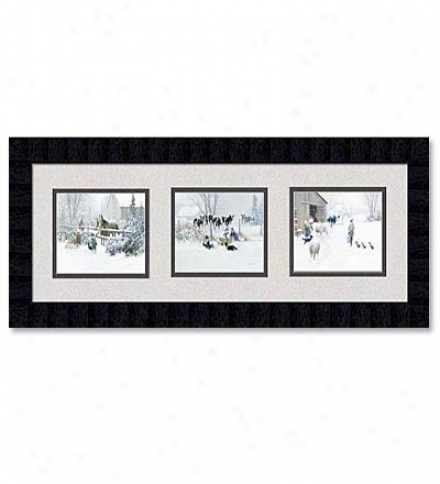 'barnyard Trio' Framed Prints By Douglas Laird
