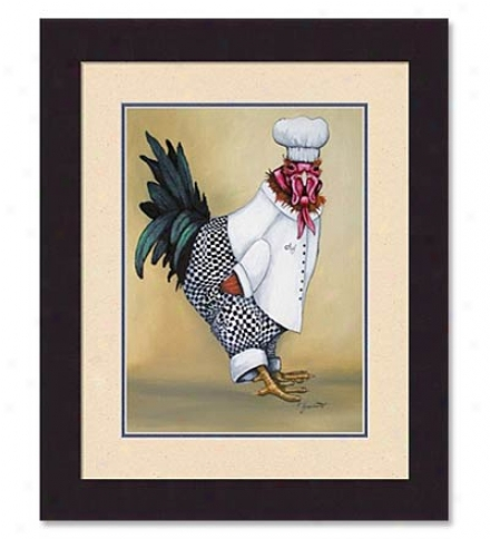 'clothed Chicken' Print By Eric Fausnacht