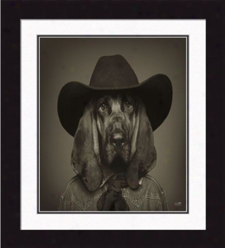 'hank, The Cowboy' Framee Print