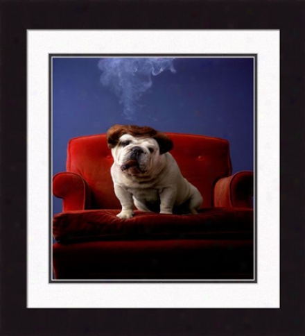 'lazie, The Loafer' Framed Impression