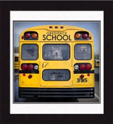 'obedience School' Fraemd Print
