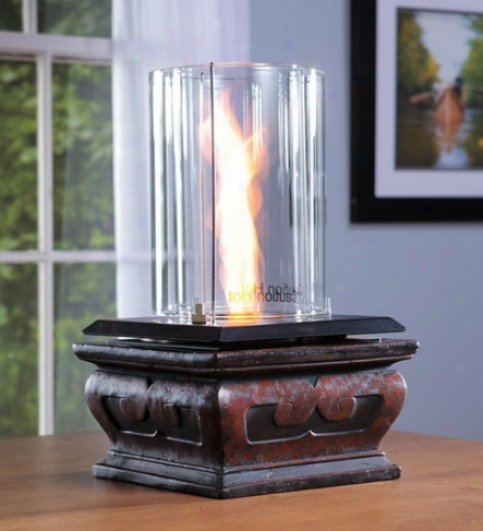 100% Clean-burning Venturi Flame Tabletop Fire Characteristic For Indoors Or Out
