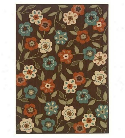 100% Polypropylene Flowers Indoor/outdoor 2.3' X 7.6' Rug