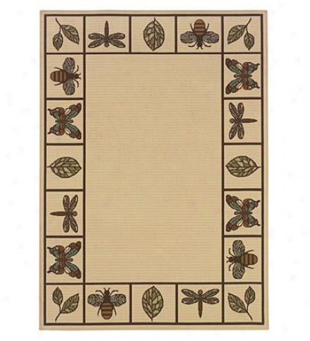 100% Polypropylene Insects Indoor/outdoor 5.3' X 7.6' Rug