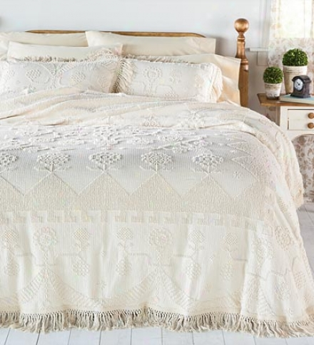 100% Cotton Martha's Choice Candlewick Twin Bedspread