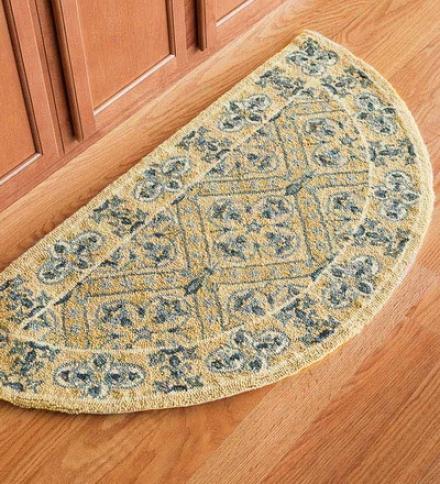 "1'9"" X 2'9"" Rectangular 100% Wool Petit Hook Chatham Rugcompare At $78.95!"