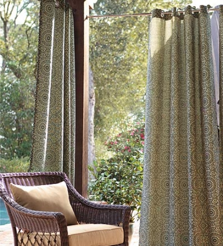 "108""l Olefin Outdoor Grommet-top Curtain Panel"