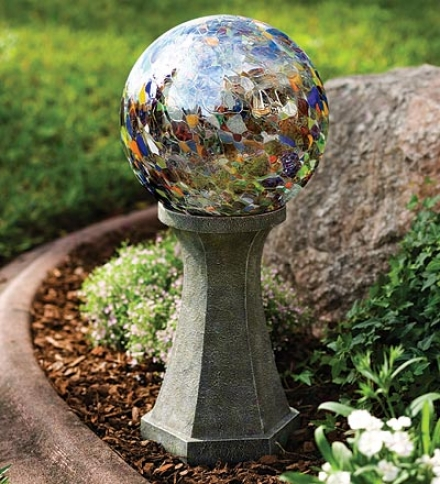 "10"" Dia. Recycld Mouth-blown Glass Gazing Ball"