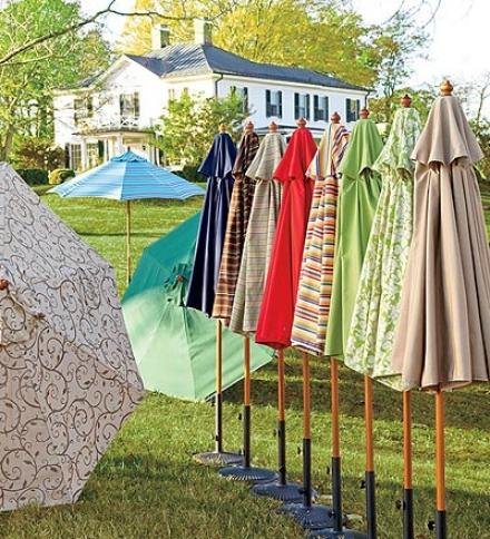 11' Deluxe Hardwood And Sunbrella™ Market Umbrella