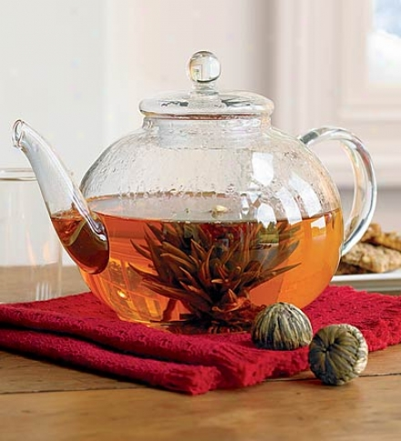 12-pack Unfurling Green Tea Leaf Flowers Blended With Jasmine