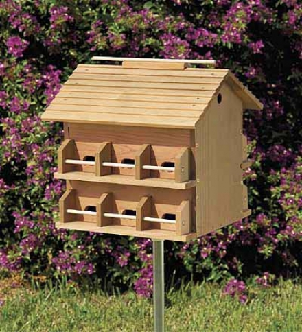 12-room Cedar Purple Martin House
