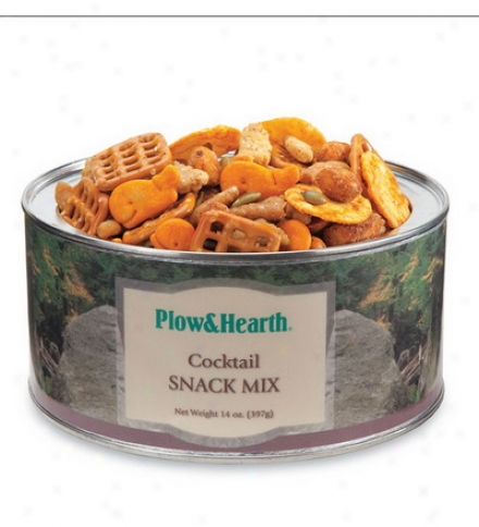 14 Oz. Tin Of Cocktal Snack Mix